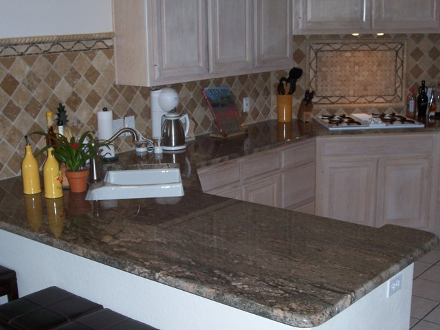 Crema Bordeaux Granite- Kitchen Remodel- Austin TX