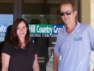 Tom Betsill and Tiva Robson - Owners of Hill Country Granite